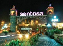 sentosa island-singapore-at night